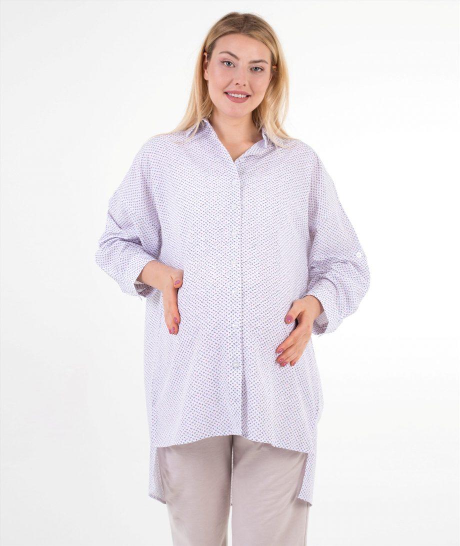 çıtır desenli hamile gömleği