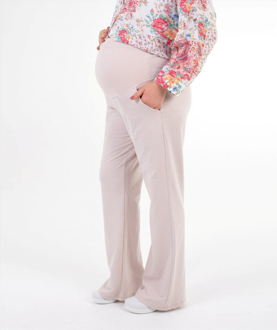 hamile elbiseleri eşofman bej