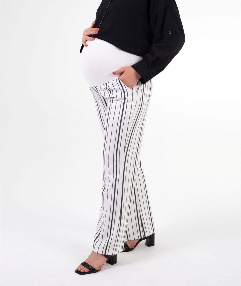 hamile pantolon çizgili siyah
