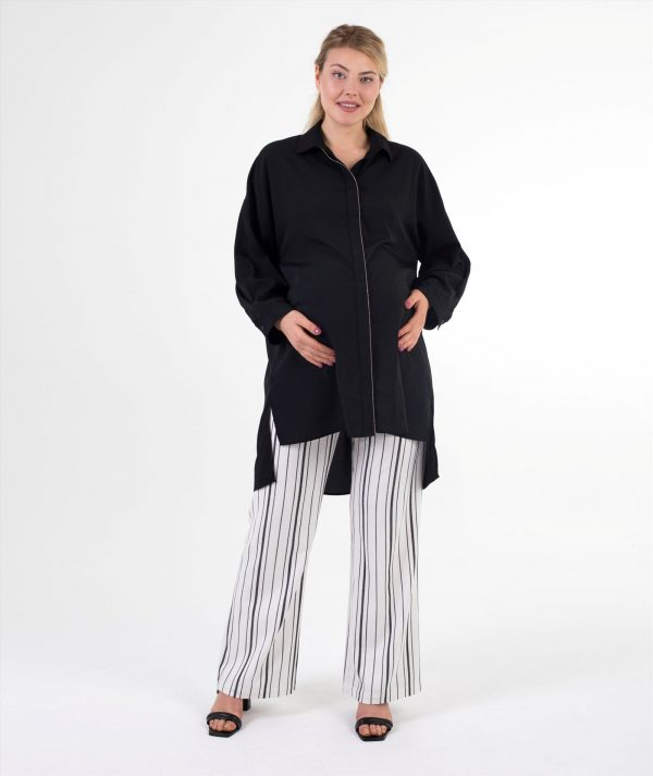 Hamile Pantolonu Siyah Çizgili
